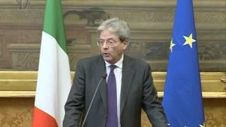Consultazioni a Montecitorio. L'intervento di Paolo Gentiloni