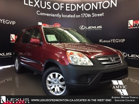 Used 2005 Red Honda CR-V 4WD EX Auto In Depth Review - Edmonton, AB, Canada