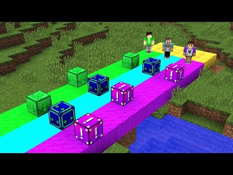 THE PALS RAINBOW LUCKY BLOCK RACE! (Denis vs. Alex Minecraft)