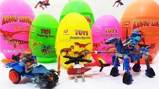 DINOSAUR Surprise Eggs Opening Surprise TOYS For Kids, Bóc Trứng Khủng Long Lấy Đồ Chơi Ghép Hình