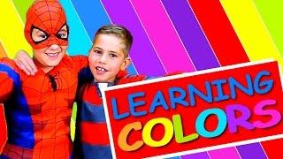 Englisch lernen für Kinder - FARBEN mit KEVIN & SPIDERMAN!!!