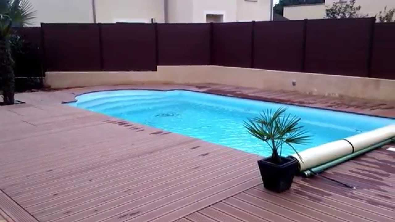 Artibois 91 plage de piscine en composite youtube for Piscine composite
