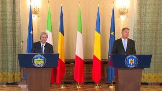 Bucarest, conferenza stampa Gentiloni - Iohannis