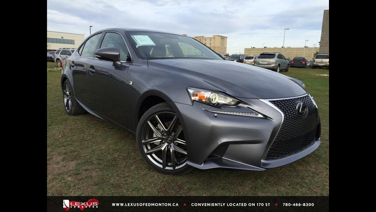new grey 2015 lexus is 250 awd f sport series 3 review northeast edmonton youtube. Black Bedroom Furniture Sets. Home Design Ideas