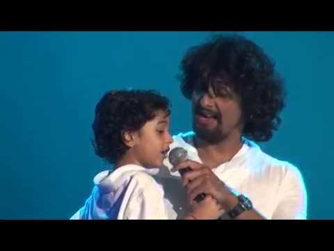 Sonu Nigam's son singing song