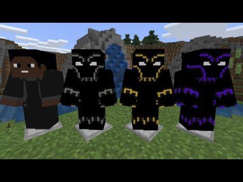 Minecraft Pocket Edition Black Panther Addon Youtube