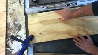 Cutting Thin Strips On A Table Saw