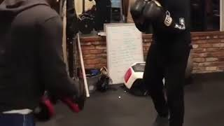 DRAKE BOXING AT THE GYM !! HE HAS HANDS!!!