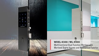 WEIDER - WGL-9300 & WDEL-9300 DUAL FUNCTIONAL MECHANTRONIC DIGITAL GLASS DOOR LOCK