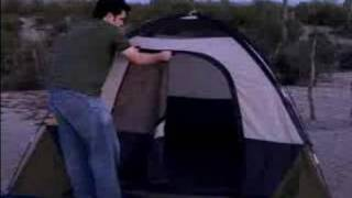 How to Put up a Tent : Rolling Up a Tent After Camping: Free Online Camping Guide