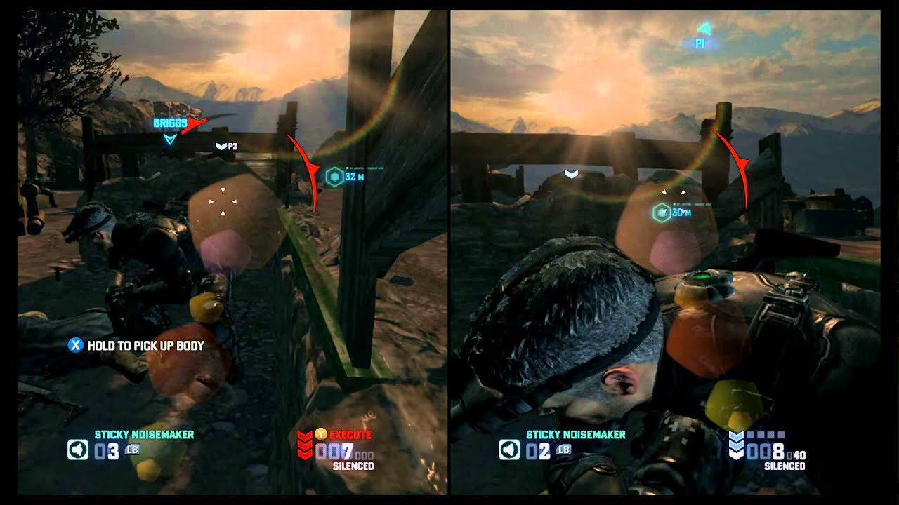 multiplayer games xbox 360 split screen
