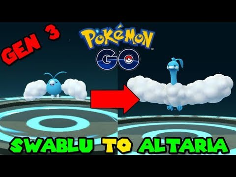 Evolving SWABLU to ALTARIA (Pokemon GO GEN 3)