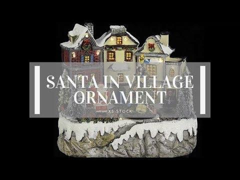 Christmas Ornament | Village with Santa