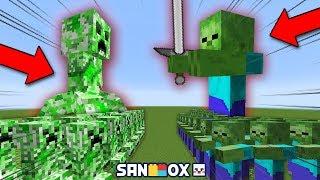 *99999배 크고 쎈 크리퍼 vs 99999배 크고 쎈 좀비* 게임모드도 죽이는 스킬!! [램램 연구소] 마인크래프트 Minecraft - [램램]