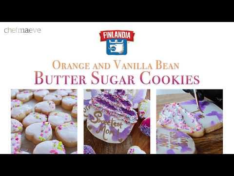 Orange Vanilla Bean Sugar Cookies