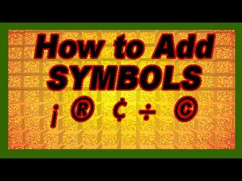 ¡ ¢  ® ℉  - How to Add Symbols & Characters: My Best Mac Tips. Apple Tutorial