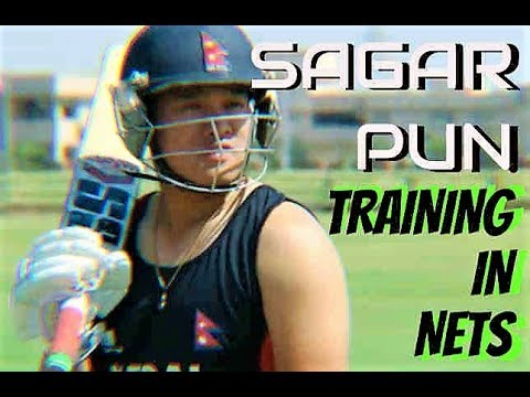 NEPALI NATIONAL PLAYER SAGAR PUN | TRAINING AT NETS | FULL HD