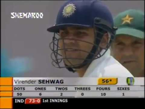Virender Sehwag's 309 vs PAK | 1st Test: Pakistan v India at Multan, Mar 28-Apr 1, 2004