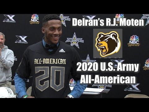 Delran's R.J. Moten | U.S. Army 2020 All-American Bowl Jersey Ceremony