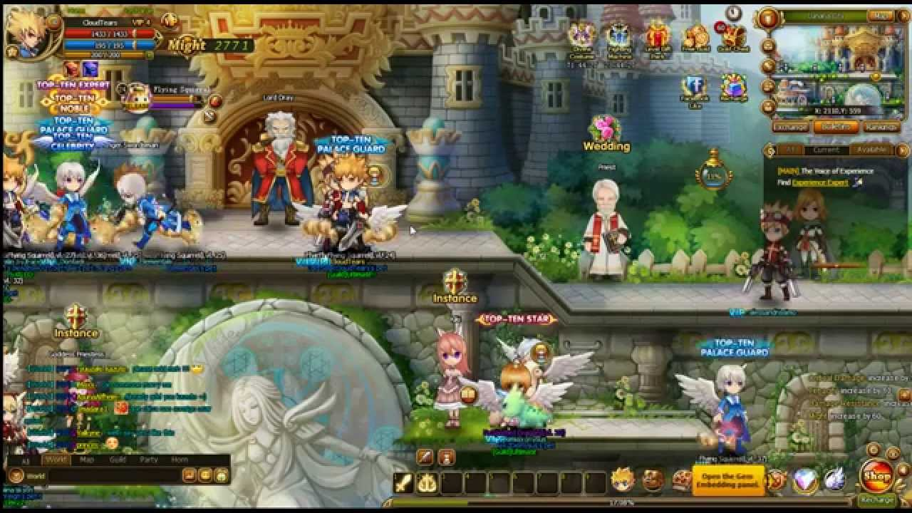Lunaria Story Browser 2D MMO