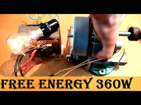 Make a Free Energy generator with a BLDC Motor from printer DIY