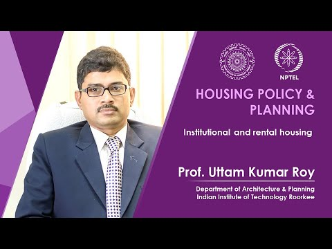Lecture 29:Institutional and rental housing