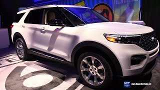 2020 Ford Explorer Platinum EcoBoost - Exterior Interior Walkaround - 2019 Detroit Auto Show