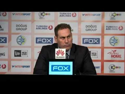 Post-game Malaga: Guy Goodes, Maccabi FOX Tel Aviv