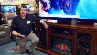 Cozy up with a Fireplace Media Console