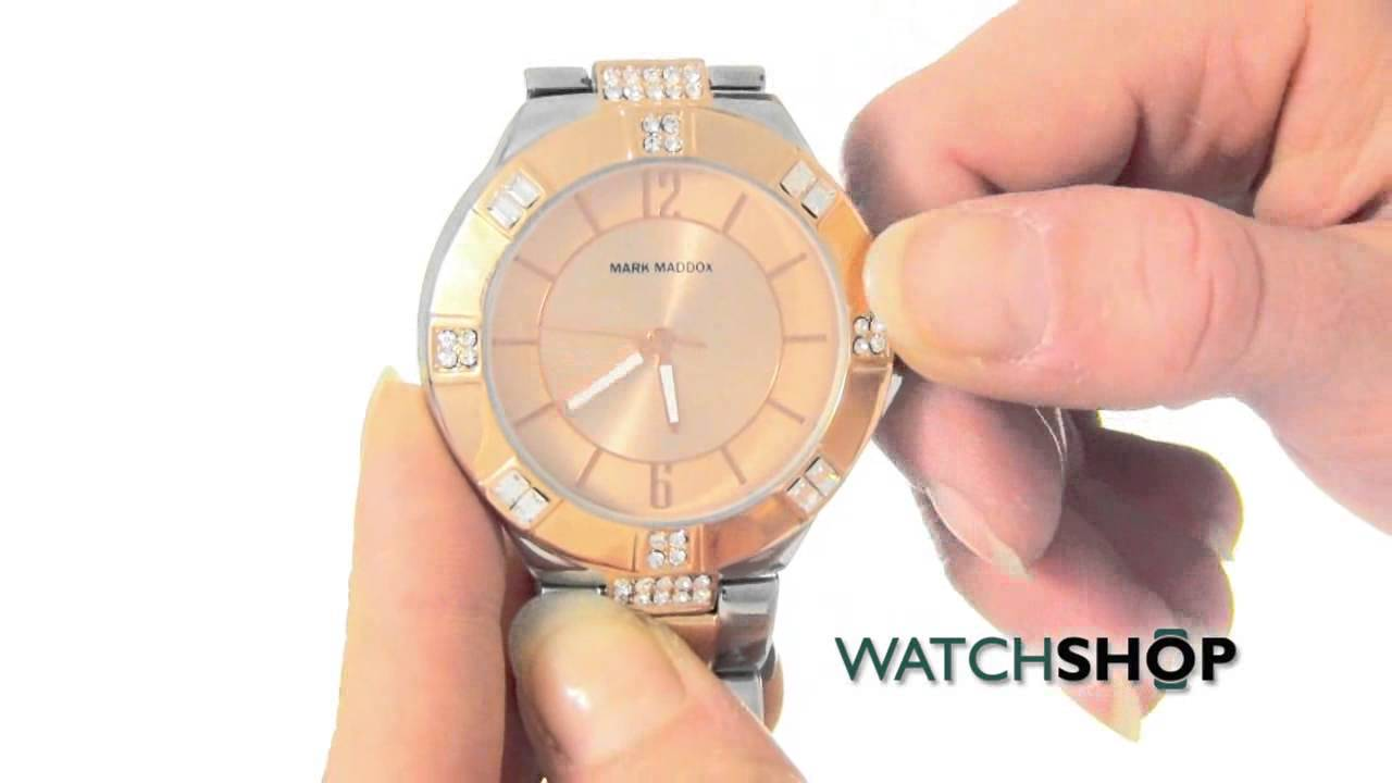 1044f133e9 Mark Maddox Ladies' Pink Gold Watch (MM6001-95) - YouTube