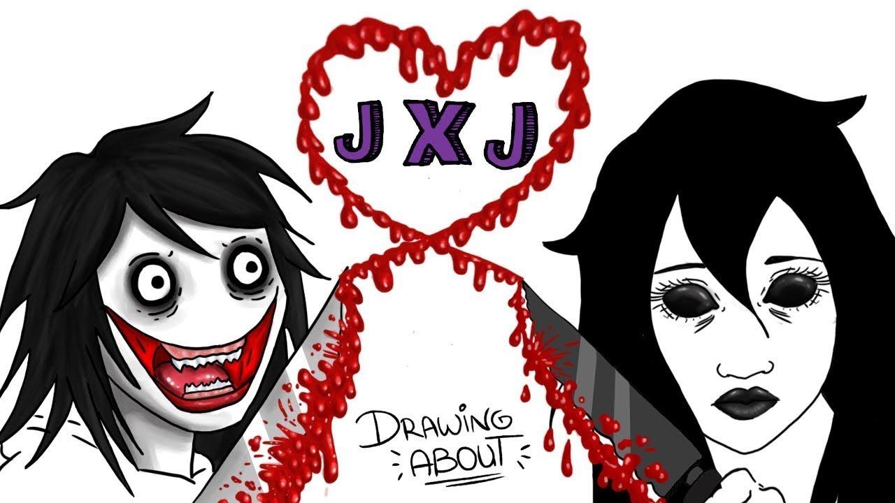 Jeff x Jane The Killer 🔪💘 Dia dos Namorados | Draw My Life - Creepypasta Especial Love Story