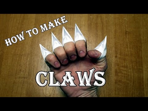 How to make claws out of paper  Origami