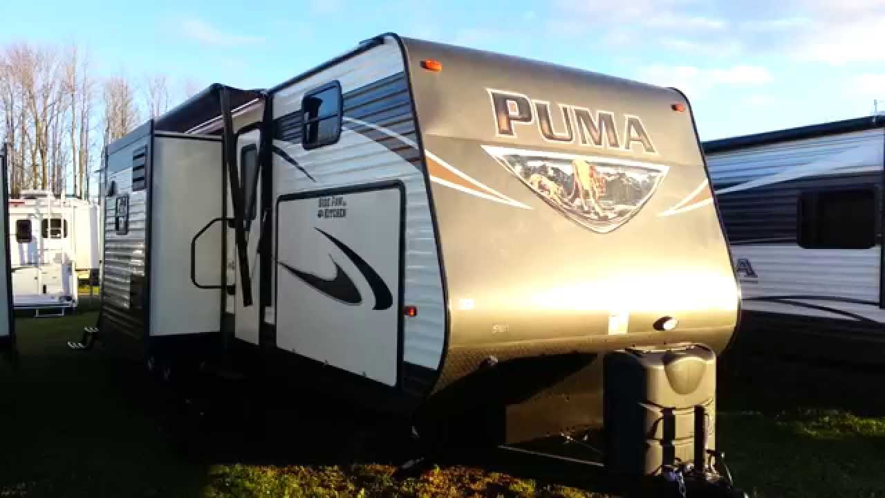 2016 puma 32fbis 2 bedroom travel trailer with outside kitchen