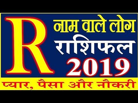 R name Horoscope Rashifal 2019 | जानिए R नाम वाले | राशिफल साल 2019