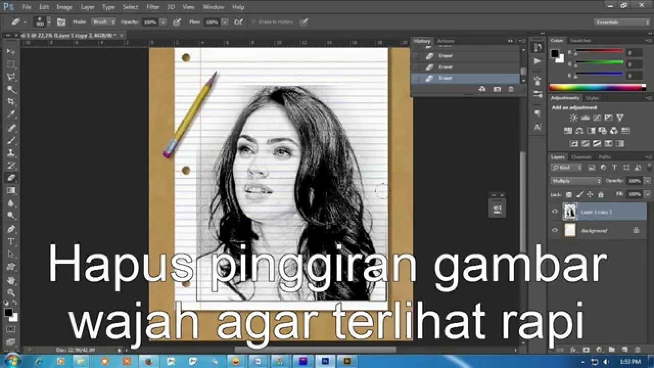 Cara Membuat Sketsa Wajah Dengan Adobe Photoshop