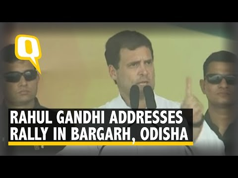 Rahul Gandhi Addresses a Rally in Bargarh, Odisha