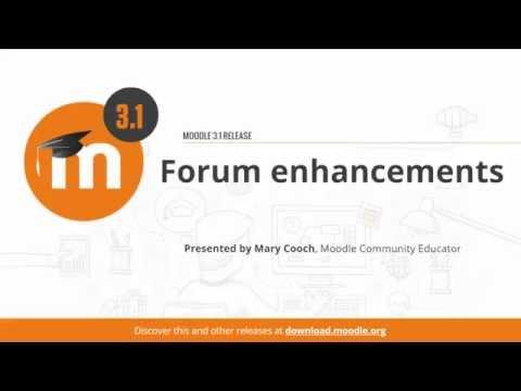 Forum Enhancements in Moodle 3.1