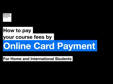 How to pay your course fees by online card payment