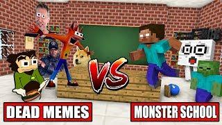 MONSTRUO de la ESCUELA VS MUERTOS MEME - Minecraft Animation
