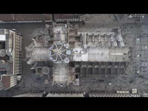 Duomo Cathedral, Milan Italy 4K shot with DJI Phantom4 PRO