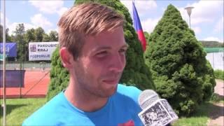 Jakub Schiel po prohře ve finále kvalifikace na turnaji Futures v Ústí n. O.