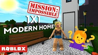 IMPOSSIBLE 1x1 MODERN HOME?! @ BLOXBURG