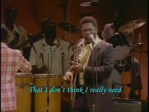 B.B. King ~ I BELIEVE TO MY SOUL Lyrics.