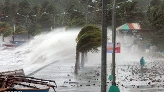 Fears hundreds dead as Super Deadky Typhoon Haiyan approaches Vietnam central Philippines devastated
