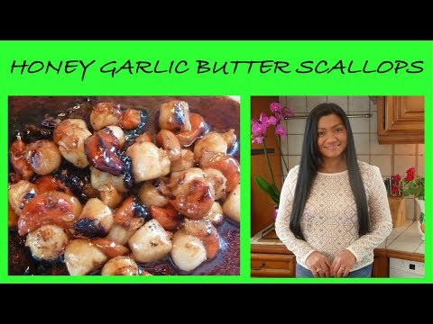 Scallops Cooked In Garlic And Honey Butter Sauce In 10 Minutes (Filipino Cooking Channel In English)