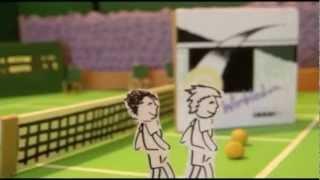 Wimbledon Song | Robin Ward | Cardboard Tennis Animation