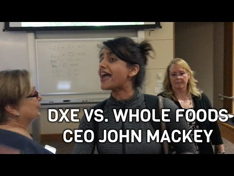 DxE disrupts Whole Foods CEO John Mackey at Stanford