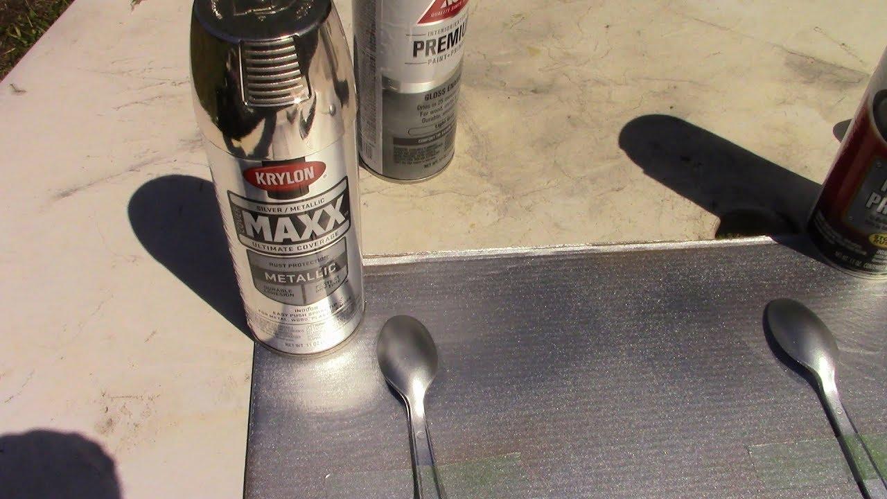 Testing Krylon Maxx Silver Metallic spray paint