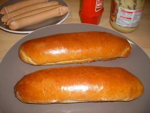 Recette spécial pain à HOTDOG à l'américaine  - pain hotdog maison