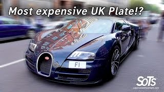 Most expensive UK number plate on a Bugatti!